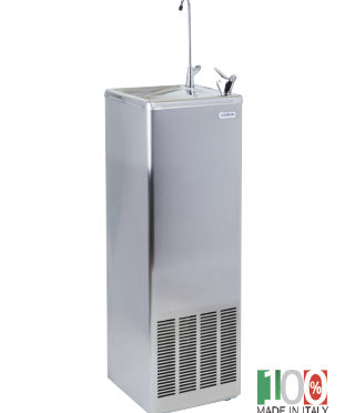 River 30 SS Free Standing Cold Water Fountain with Bubbler and Glass Filler Stainless Steel