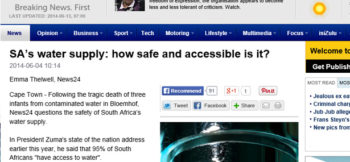 SA's water supply: how safe and accessible is it?