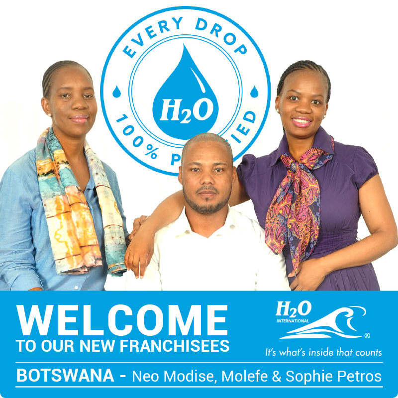 Our new quality franchisees bring purified water to Botswana
