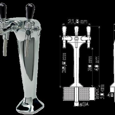 Cosmetal G663 Triple Dispenser Tap