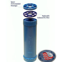 Triple Housing Whole House Water Filter with UV Light