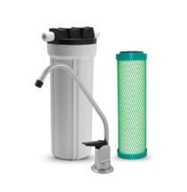 US4-S-CHLOR+ Hi-flow Undersink Purifier with Sediment Filter & T-Style Faucet