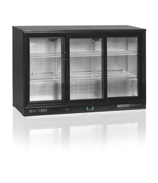 Tefcold Three Door, Sliding – DB300S-P – Back Bar Under-counter Fridge