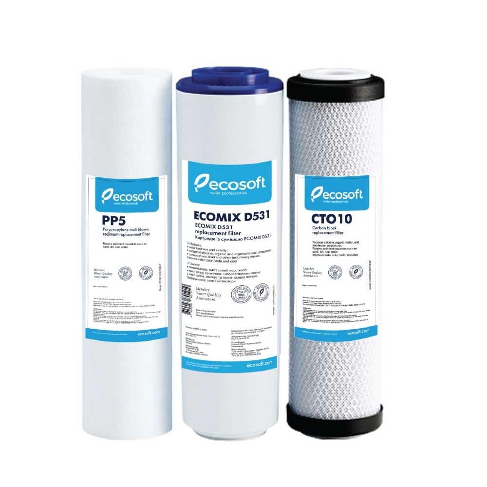 Ecosoft Replacement Cartridge Pack for 3-Stage System