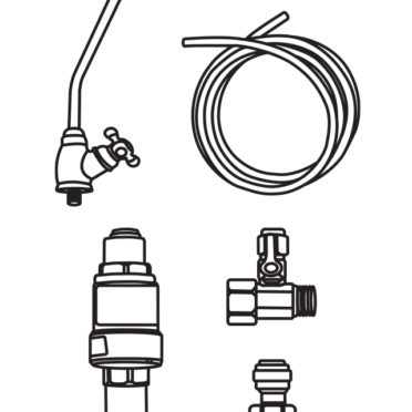Under-counter 1/4″ Installation kit – with Faucet