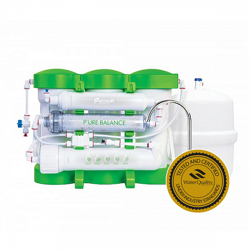 Ecosoft P'ure Balance Reverse Osmosis System 6 Stage – 75GPD