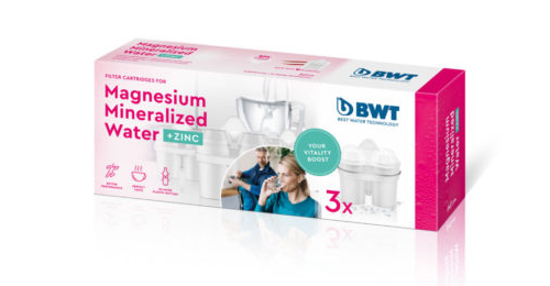 Try our BWT Magnesium Mineralized Jug cartridges and Zinc Pack in the BWT Penguin 2.6L Magnesium Mineralizer Jug.