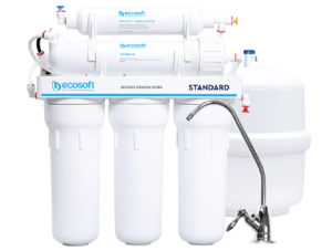 Ecosoft Standard Reverse Osmosis System 6 Stage - 50GPD With Mineralization On Metal Rack